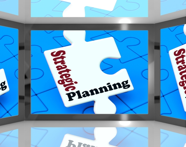 Strategic Planning On Screen Shows Organization And Professional Research