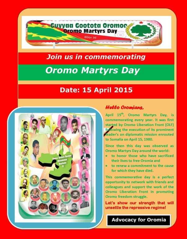 Flyer Guyyaa Gootota Oromoo